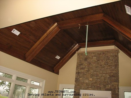 Wood Beams Beaded