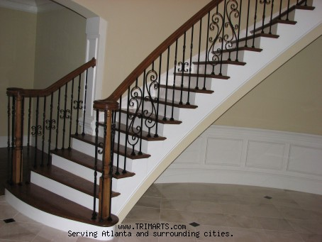 Curved Stair W Bending Handrail