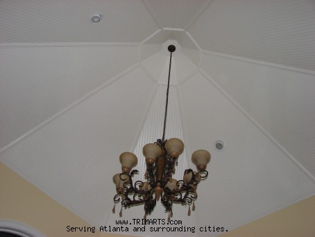 Breakfast Room Beadboard Vaulted Ceiling